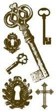 Gelová razítka - sada Klíče 10x20cm