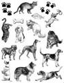 Gelová razítka - sada Kočky a psi 14x18cm