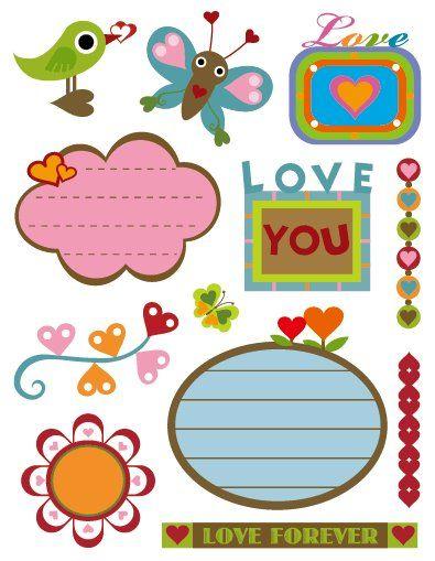 Gelová razítka - sada Láska + štítky se srdíčky 14x18 cm SMTCreatoys