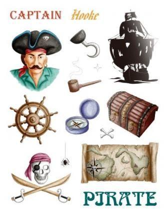 Gelová razítka - sada Pirát 14x18cm