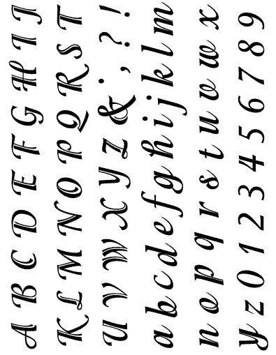 Gelová razítka - sada písmena a číslice ozdobná 15x20 cm ostatní