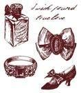 Gelová razítka - Střevíc, prsten.. 7x8,5cm ostatní