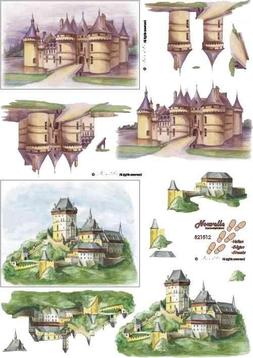 Karlštejn - 3D papír Le Suh