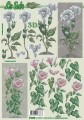 Květiny na stonku - 3D papír