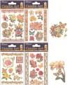 Obtisky na dekorování svíček barevné květinové 15 x 11cm