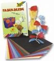 Papír - hedvábná nit - 25 g/m2, 23 x 32 cm, 10 listů v 10 barvách