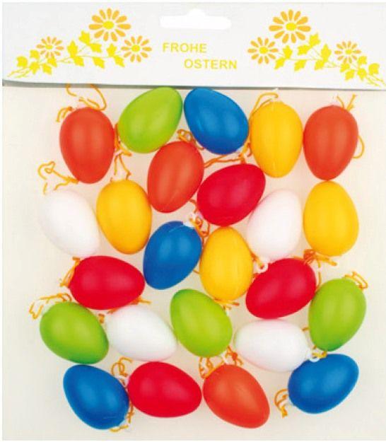 Plastová vajíčka ( vejce) 4 cm, 24 ks mix barev