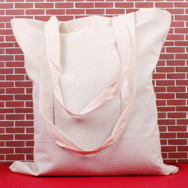 Plátěná taška 38x41cm - dlouhé ucho