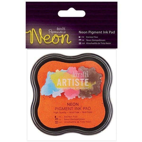 Razítkovací polštářek pigmentový neonový - oranžový ostatní