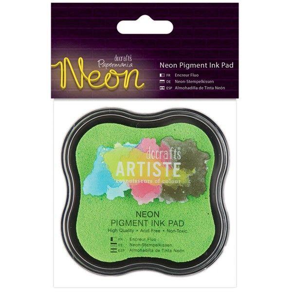 Razítkovací polštářek pigmentový neonový - zelený ostatní
