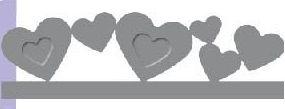 Raznice - (razidlo,děrovačka) bordura srdce embosovací ostatní