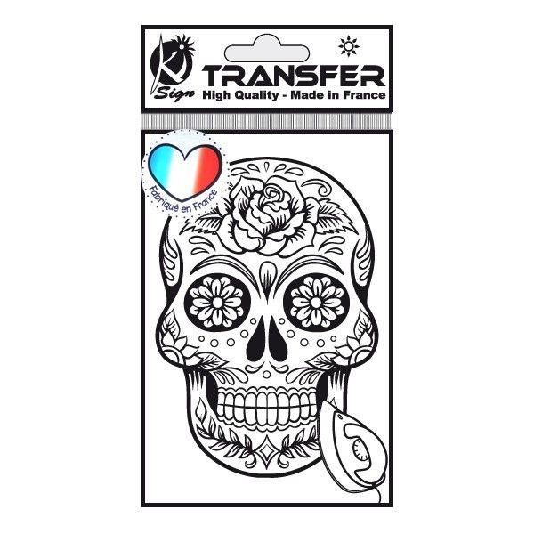 Samolepka na textil zažehlovací obrázek MEXICKÁ LEBKA Ki-Sign