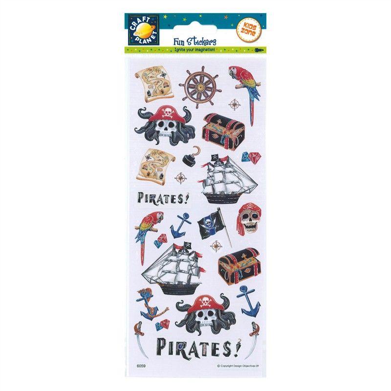 Samolepky 10x23cm - Piráti