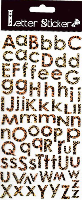 Samolepky 10x24cm - Tygrovaná písmena ostatní