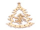 Výsek dřevěný - vánoční stromek