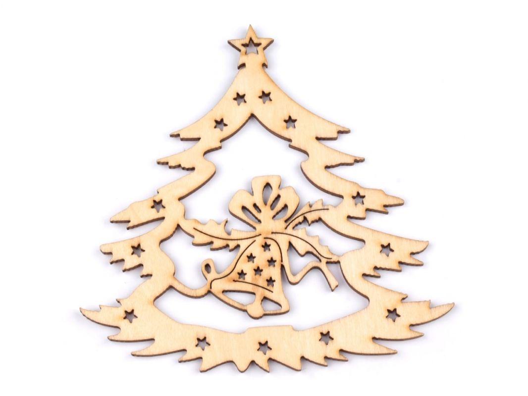 Výsek dřevěný - vánoční stromek ostatní