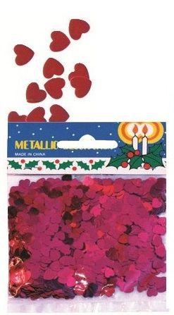 Výseky - lesklé konfety srdíčka 14g