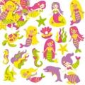 Samolepky z pěnovky s potiskem - Mořská panna (120ks)