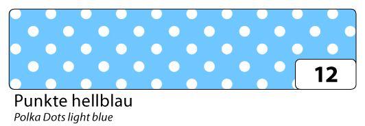 Washi Tape - dekorační lepicí páska - 10 m x 15 mm - modrá a bílé puntíky Folia