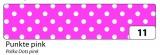 Washi Tape - dekorační lepicí páska - 10 m x 15 mm - růžová a bílé puntíky Folia
