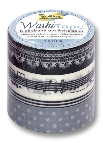 Washi Tape - dekorační lepicí páska - sada Melodie