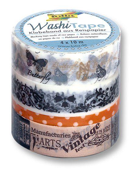 Washi Tape - dekorační lepicí páska - sada Motýlci