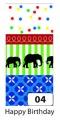 Washi Tape - dekorační lepicí páska - sada Sloni Folia