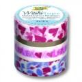 Washi Tape - dekorační lepicí páska - sada Srdce