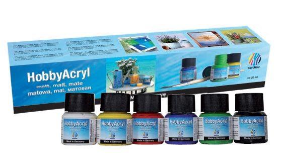 Akrylové barvy Nerchau - Hobby Acryl matt Starter set 6x20ml