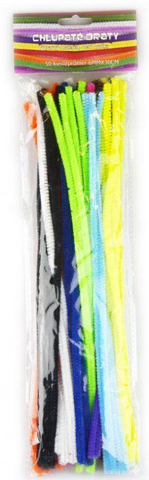 Chlupaté dráty 30 cm základní barvy 50 ks