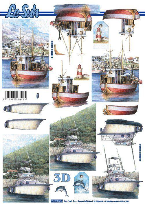 Člun a loď - 3D papír