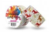 Duct Tape - dekorační lepicí páska - 5m x 48mm - ČERVENÍ SOBI