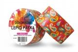 Duct Tape - dekorační lepicí páska - 5m x 48mm - ORNAMENT V ORANŽOVÉM