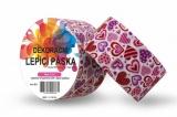 Duct Tape - dekorační lepicí páska - 5m x 48mm - SRDÍČKA LILA