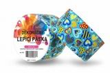 Duct Tape - dekorační lepicí páska - 5m x 48mm - SRDÍČKA MODRÁ