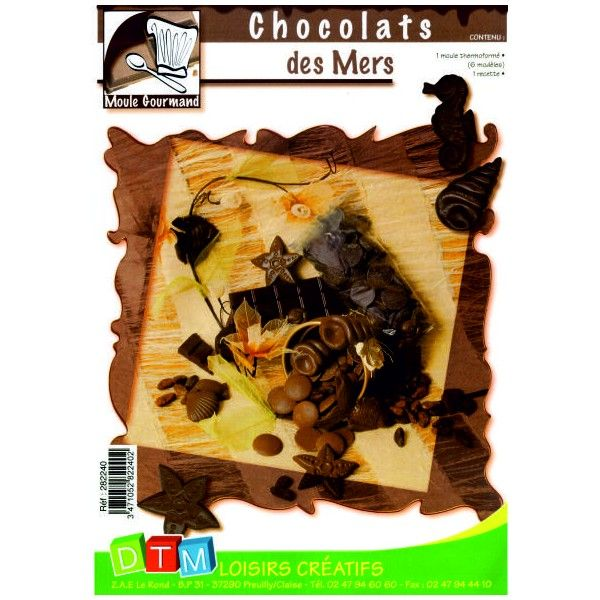 Forma na čokoládu - Mořské plody DTM