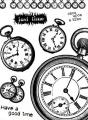 Gelová razítka - Have a good time - hodiny 15x20cm