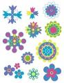 Gelová razítka - sada Kytičky-ornamenty 14x18cm
