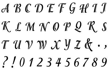 Gelová razítka - sada Písmena a číslice ozdobná 10 x 15 cm