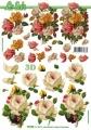 Květiny 3D papír