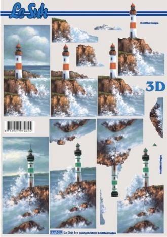 Majáky - 3D papír Le Suh