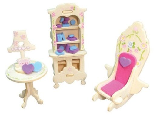 Nábytek pro panenky princezny- knihovna - blistr ostatní