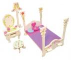 Nábytek pro panenky princezny - ložnice - blistr