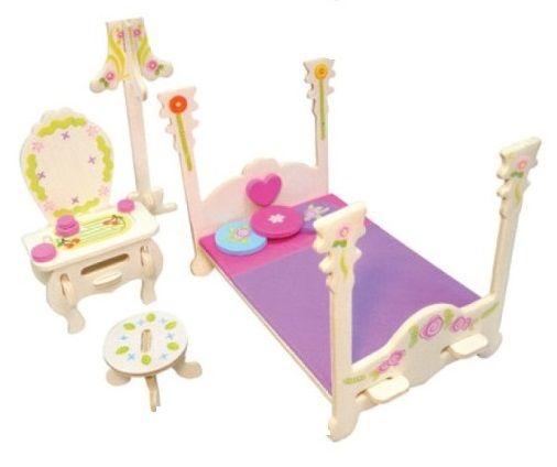 Nábytek pro panenky princezny- ložnice- blistr ostatní