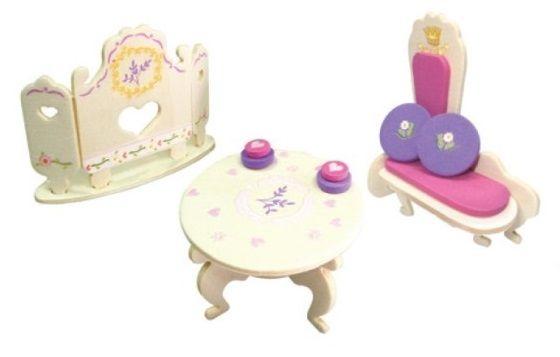Nábytek pro panenky princezny- pohovka - blistr ostatní