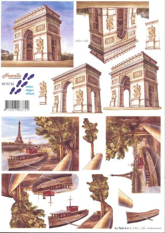 Paříž - 3D papír