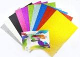 Pěnovka moosgummi třpytivá - A4- sada 10listů mix barev