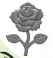 Raznice - růže embosovací 32mm
