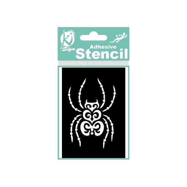 Samolepicí flexi mini šablona pavouk 7x10 cm