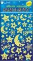 Samolepky svítící ve tmě noční obloha 21x13cm